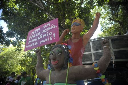 Rio de Janeiro - Bloco Tá Pirando, Pirado, Pirou! protesta contra tratamento de pacientes em manicômios no pré-carnaval do Rio durante desfile na Avenida Pasteur, na Urca (Tomaz Silva/Agência Brasil)